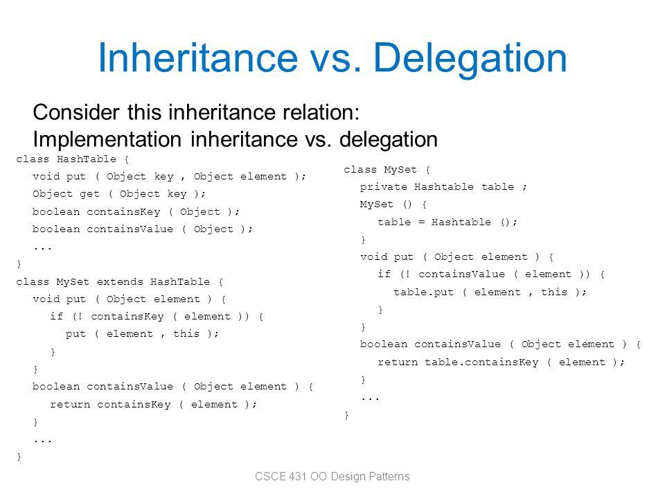 Inheritance vs. Delegation