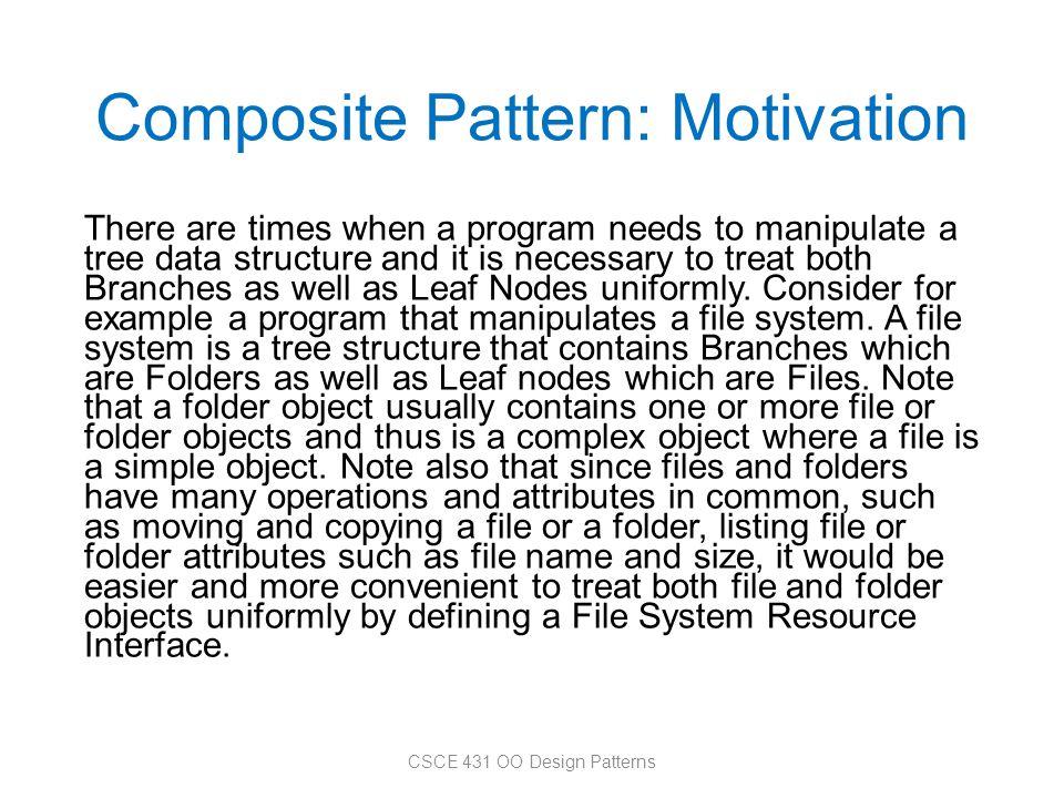 Composite Pattern: Motivation