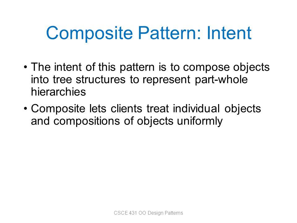 Composite Pattern: Intent