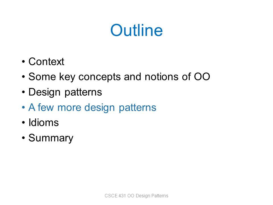 CSCE 431 OO Design Patterns