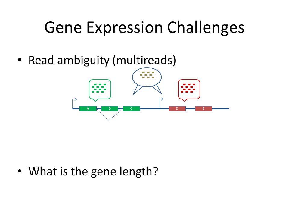 Gene Expression Challenges