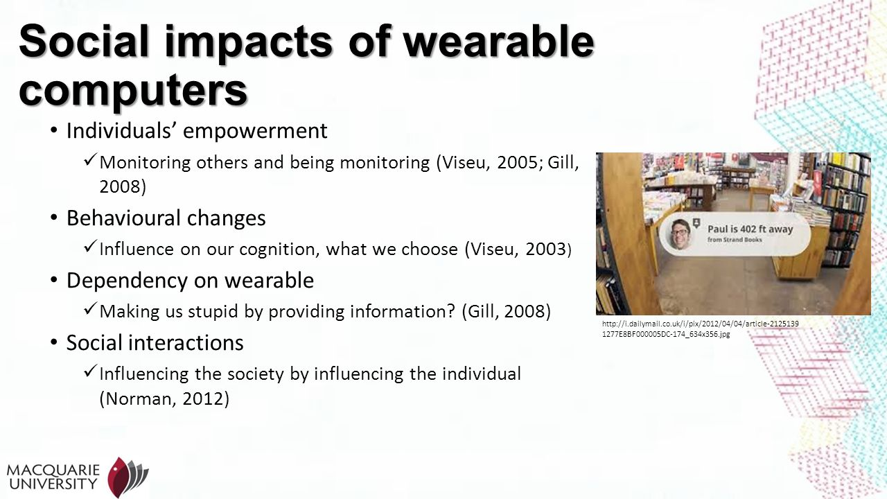 Social impacts of wearable computers