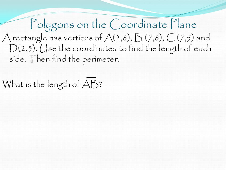 Polygons on the Coordinate Plane