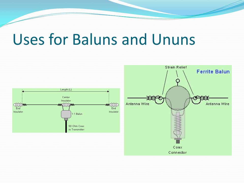 Uses for Baluns and Ununs