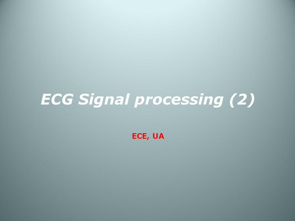 ECG Signal processing (2)