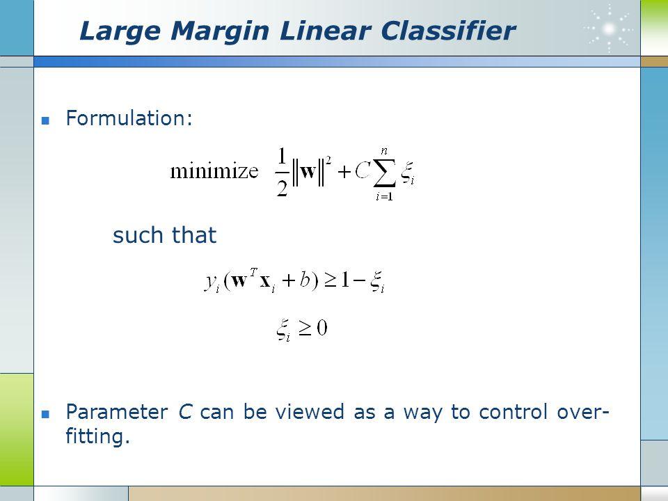 Large Margin Linear Classifier