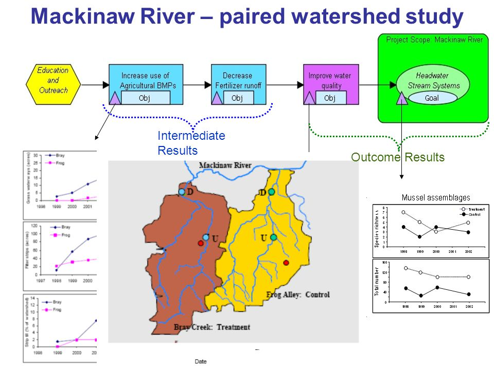 Mackinaw River – paired watershed study