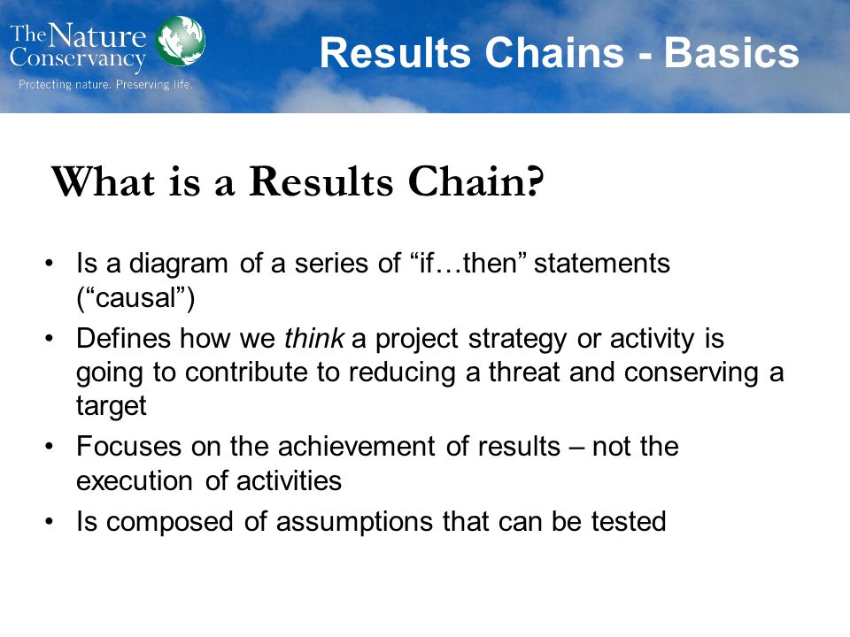 Results Chains - Basics