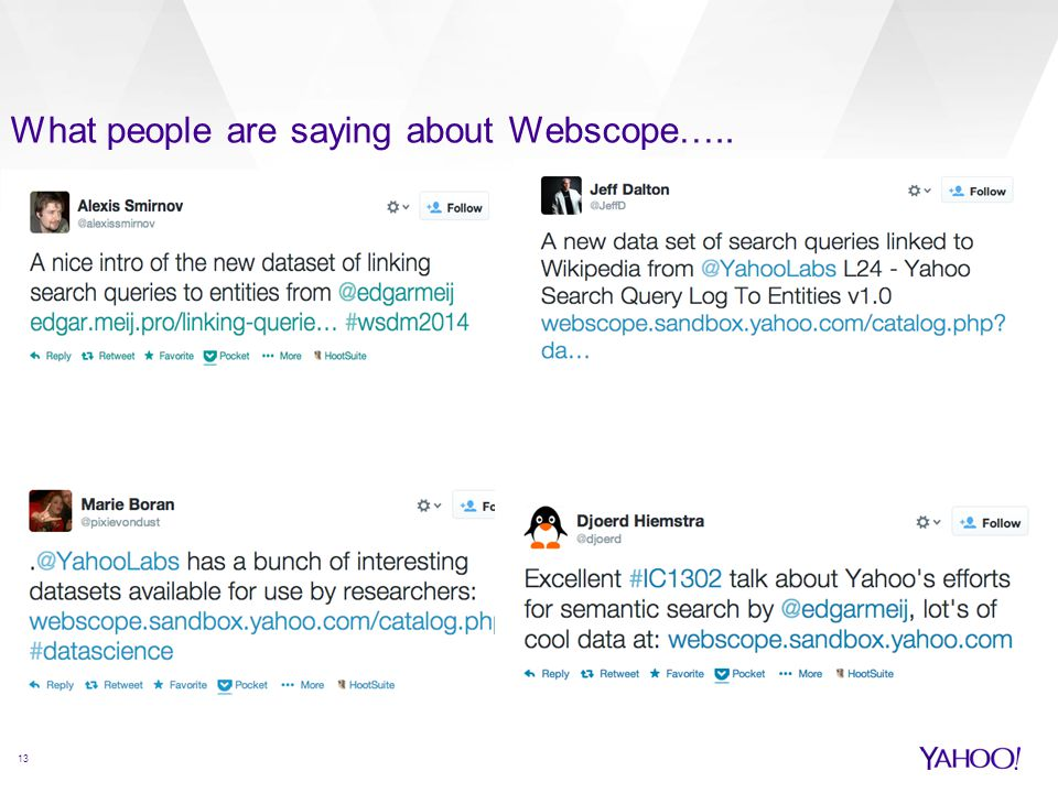 What people are saying about Webscope…..