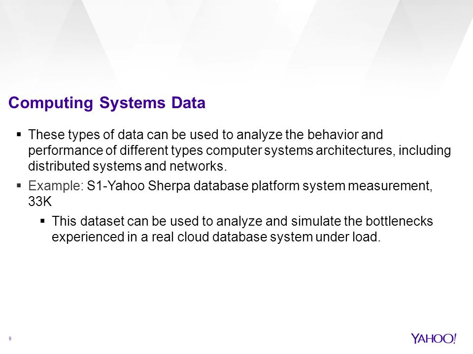 Computing Systems Data