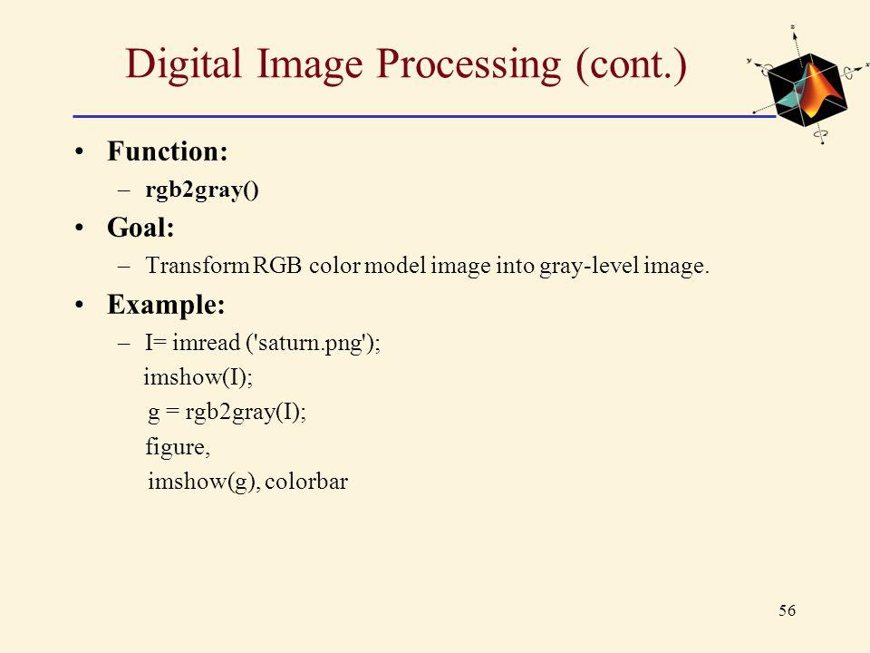 Digital Image Processing (cont.)