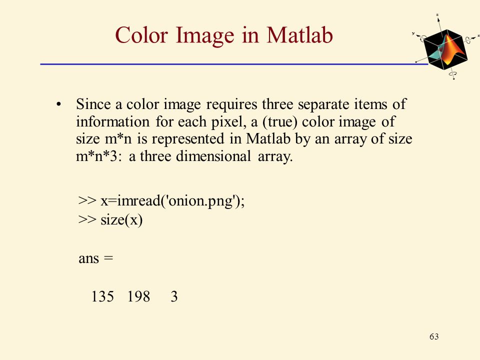 Color Image in Matlab