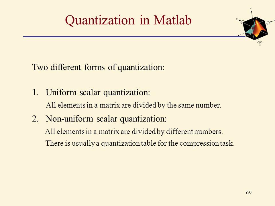 Quantization in Matlab