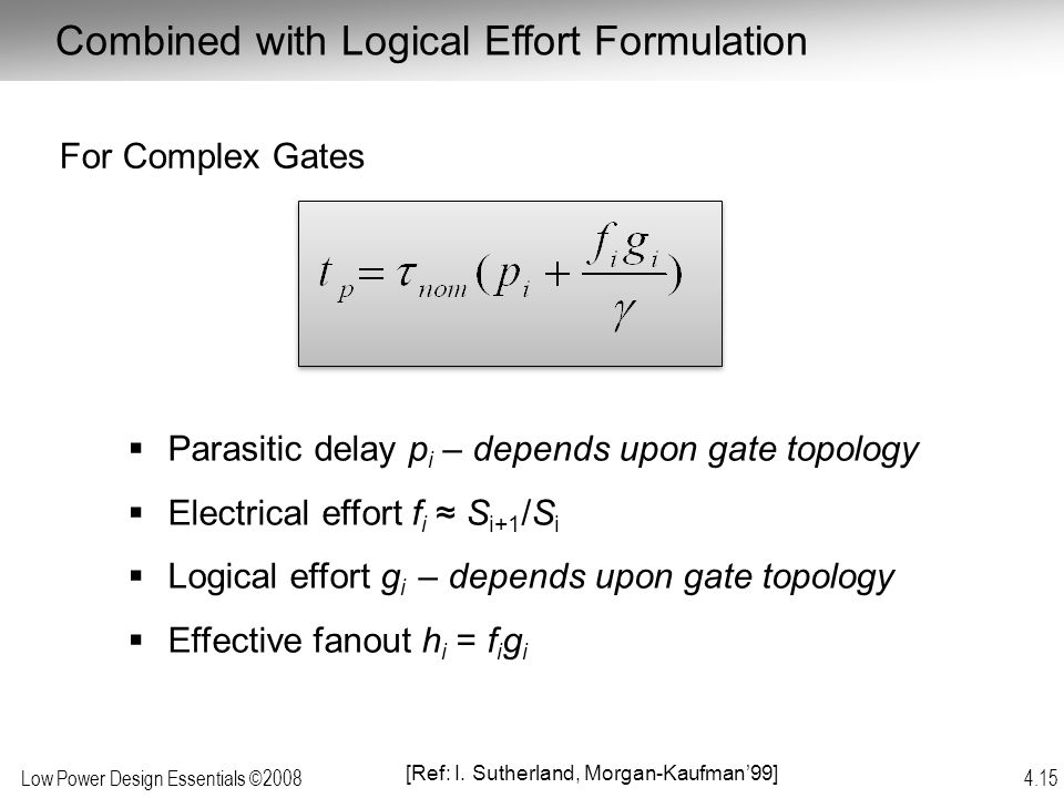 Combined with Logical Effort Formulation