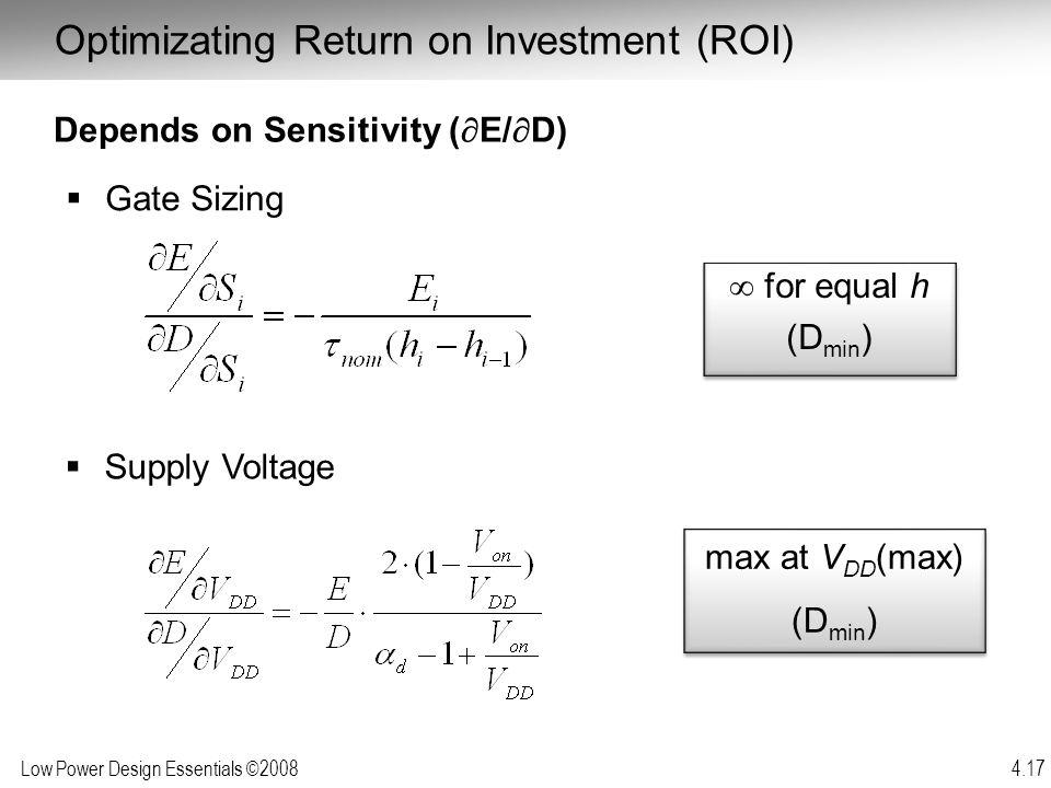 Optimizating Return on Investment (ROI)