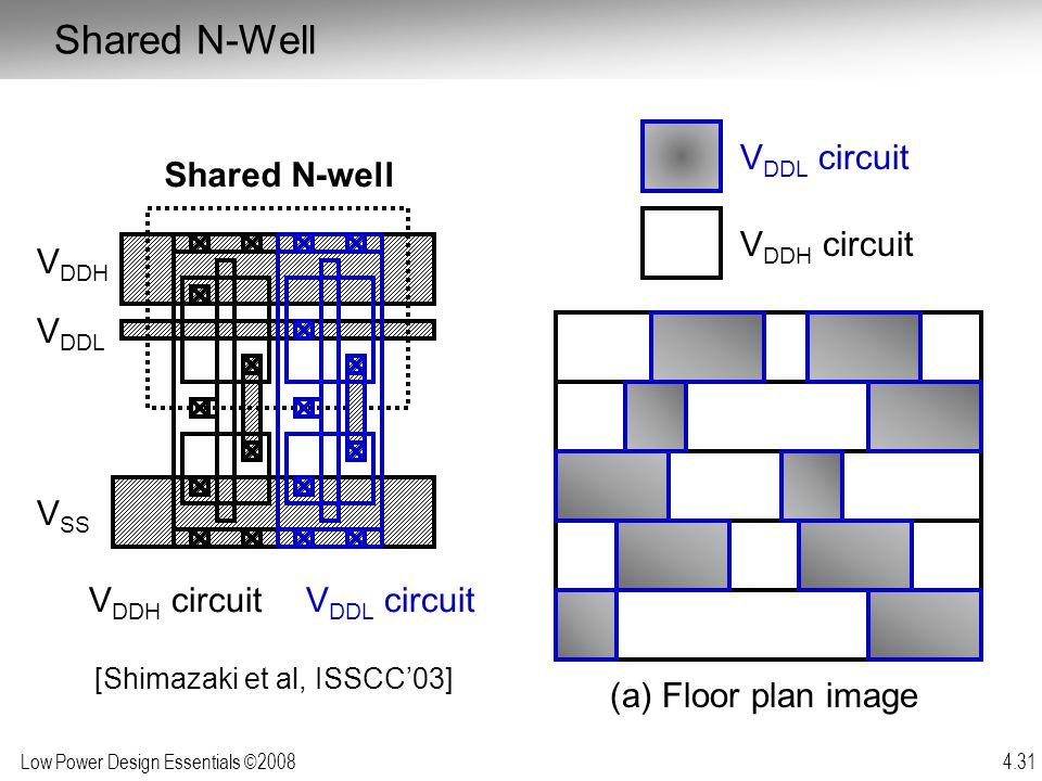 Shared N-Well VDDL circuit Shared N-well VDDH circuit VDDH VDDL VSS
