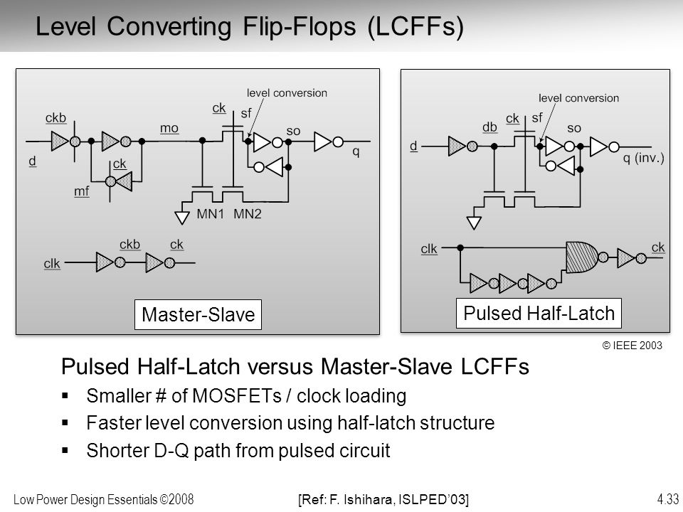 Level Converting Flip-Flops (LCFFs)