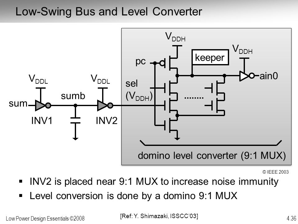 Low-Swing Bus and Level Converter