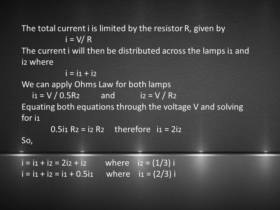 The total current i is limited by the resistor R, given by
