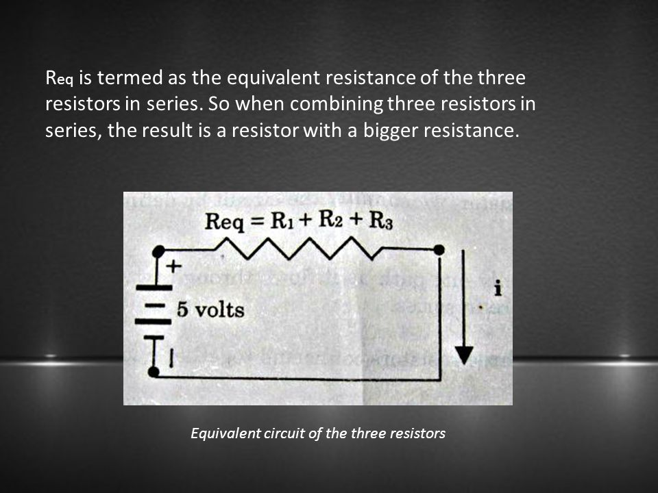 Equivalent circuit of the three resistors