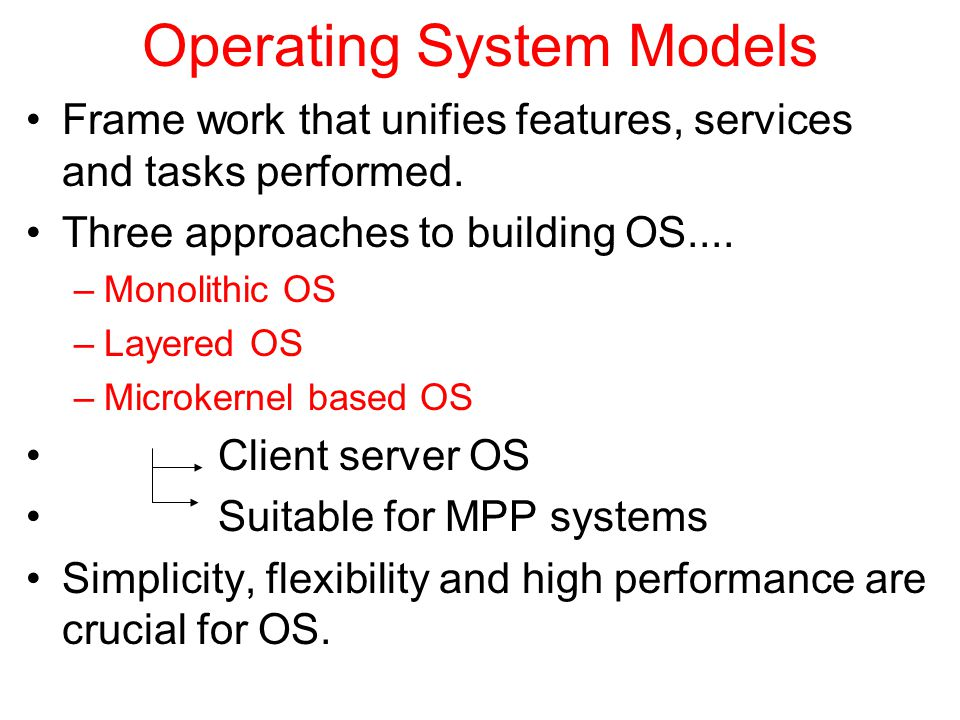Operating System Models