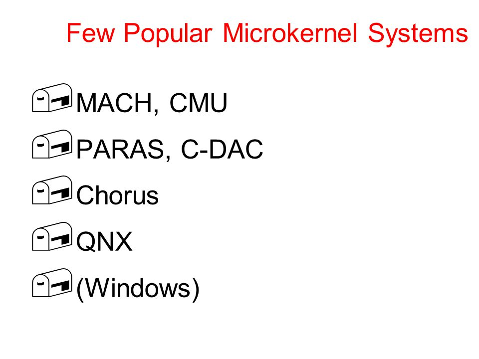 Few Popular Microkernel Systems