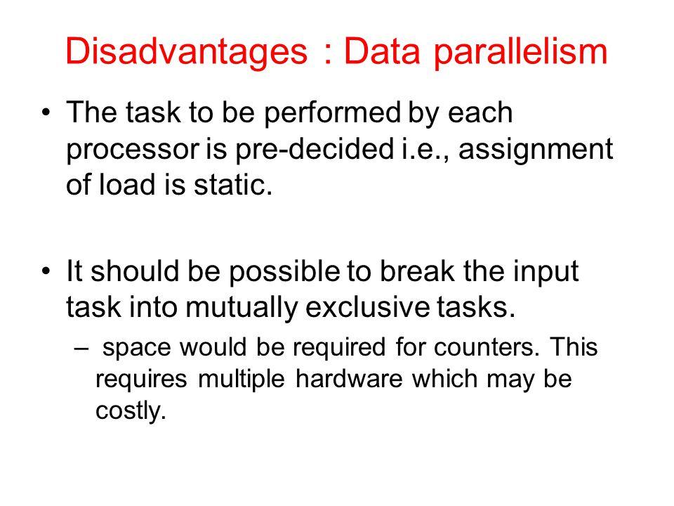 Disadvantages : Data parallelism