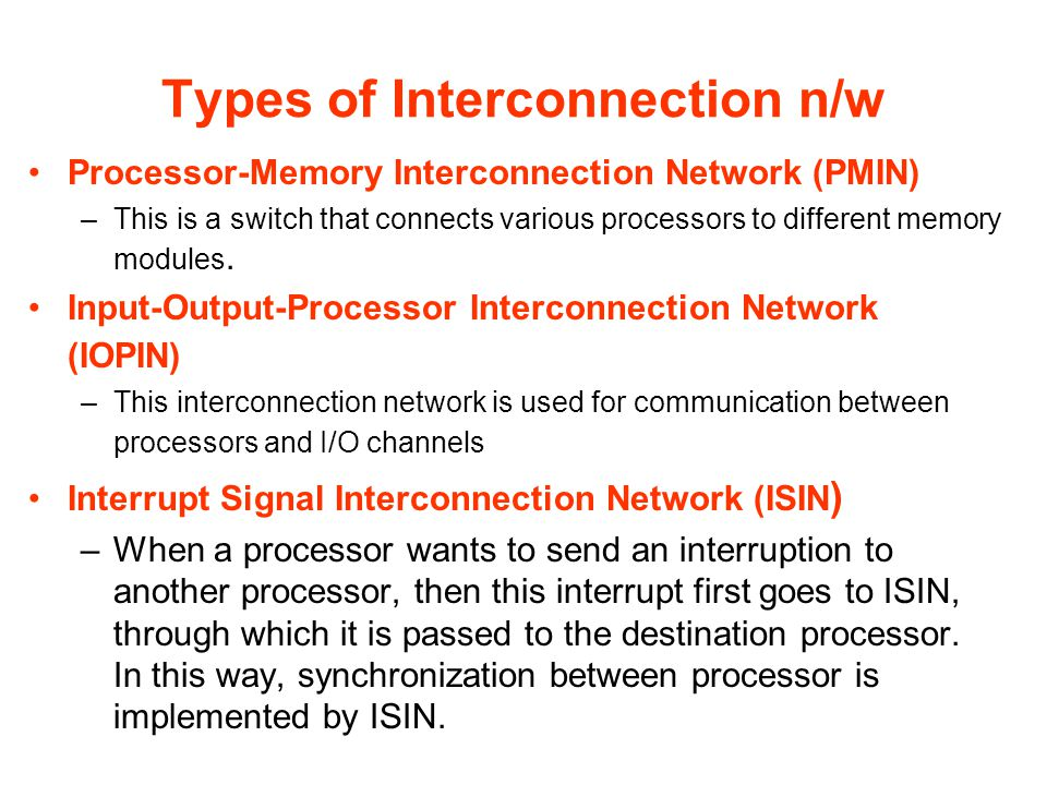 Types of Interconnection n/w