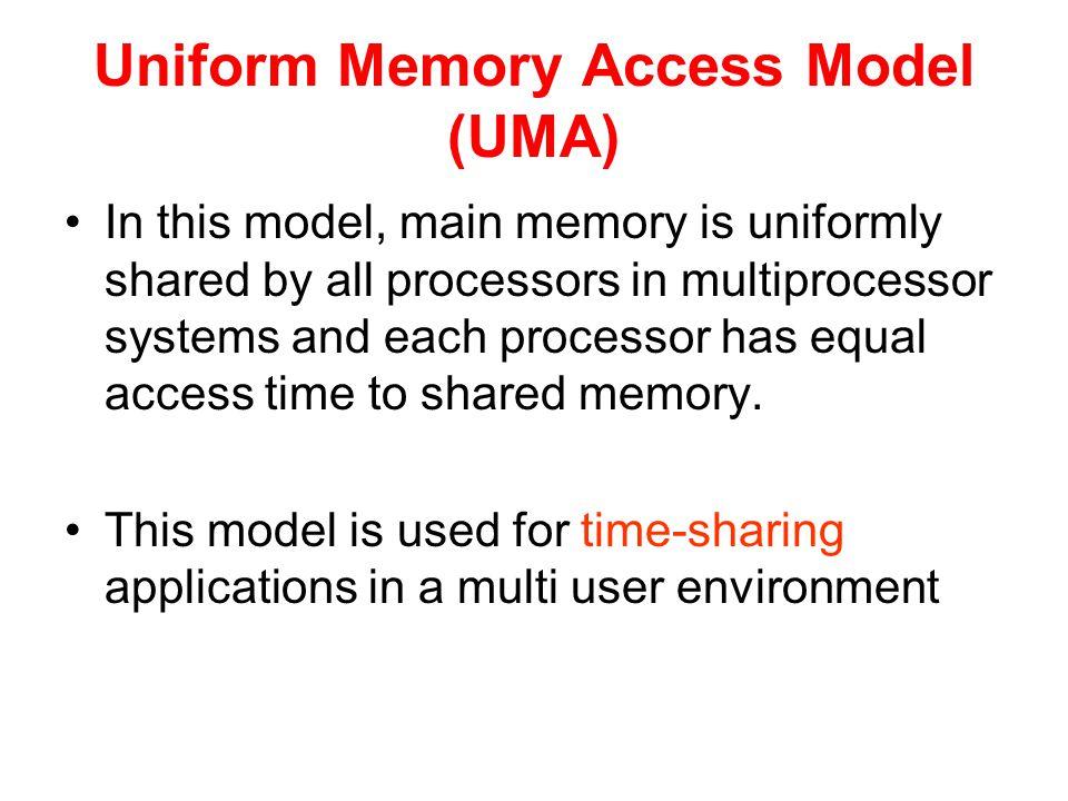 Uniform Memory Access Model (UMA)
