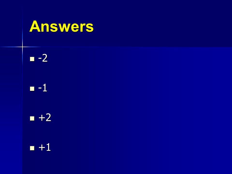 Answers -2 -1 +2 +1