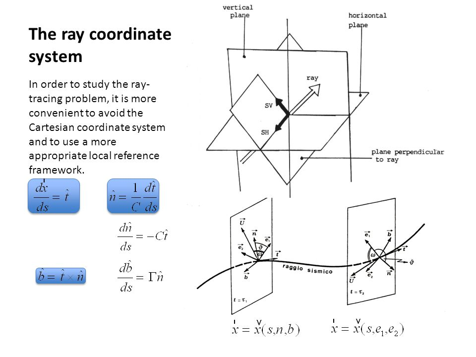 The ray coordinate system