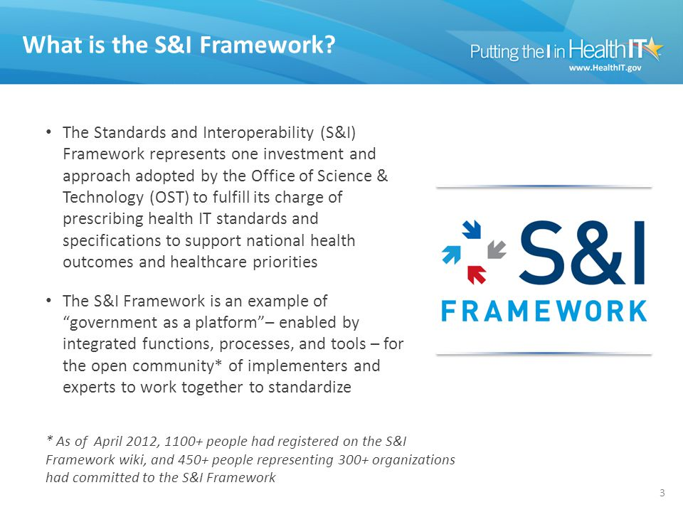 What is the S&I Framework