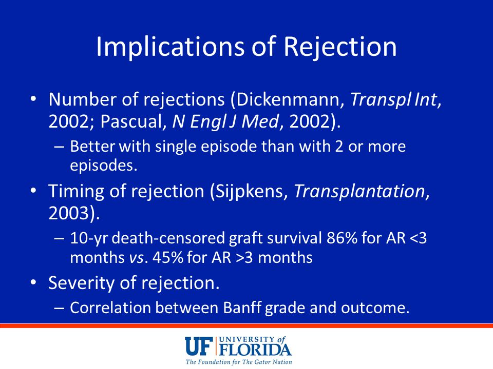 Implications of Rejection