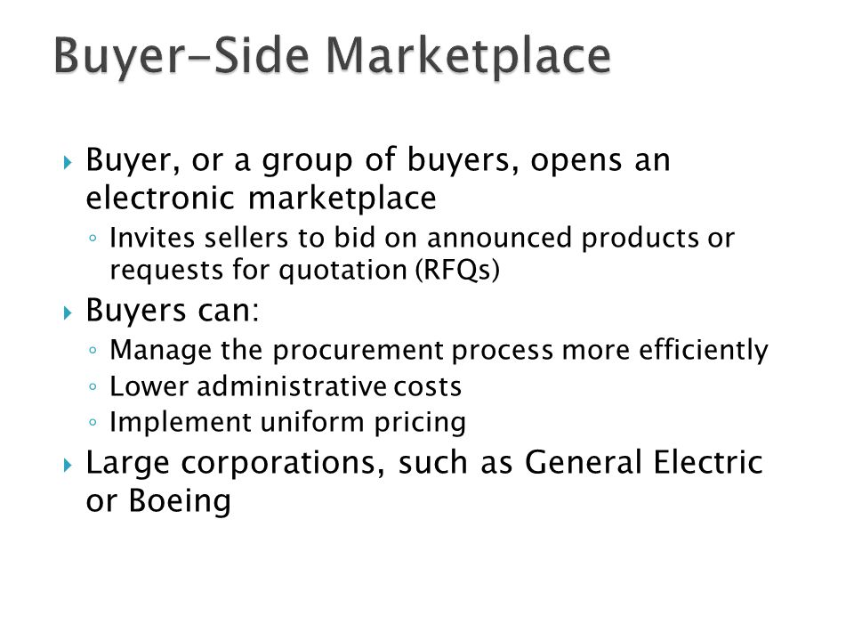 Buyer-Side Marketplace