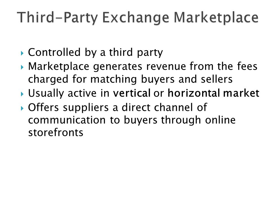 Third-Party Exchange Marketplace