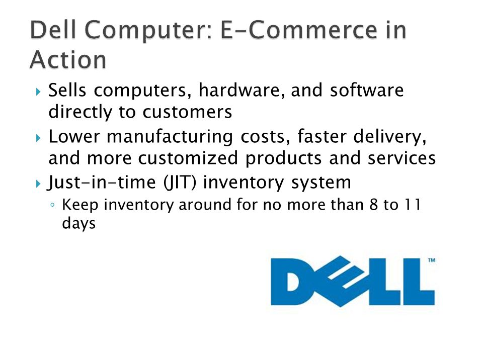 Dell Computer: E-Commerce in Action