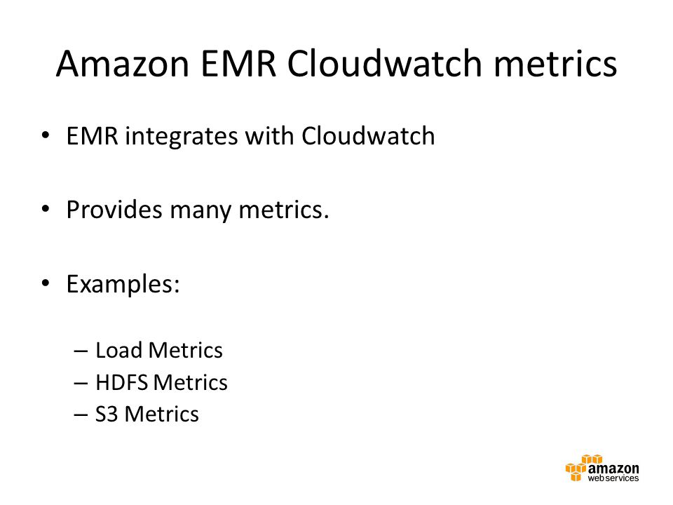 Amazon EMR Cloudwatch metrics
