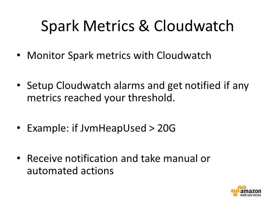 Spark Metrics & Cloudwatch