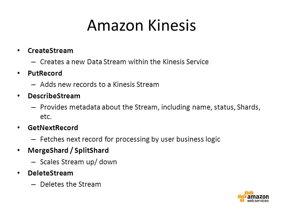 Amazon Kinesis CreateStream