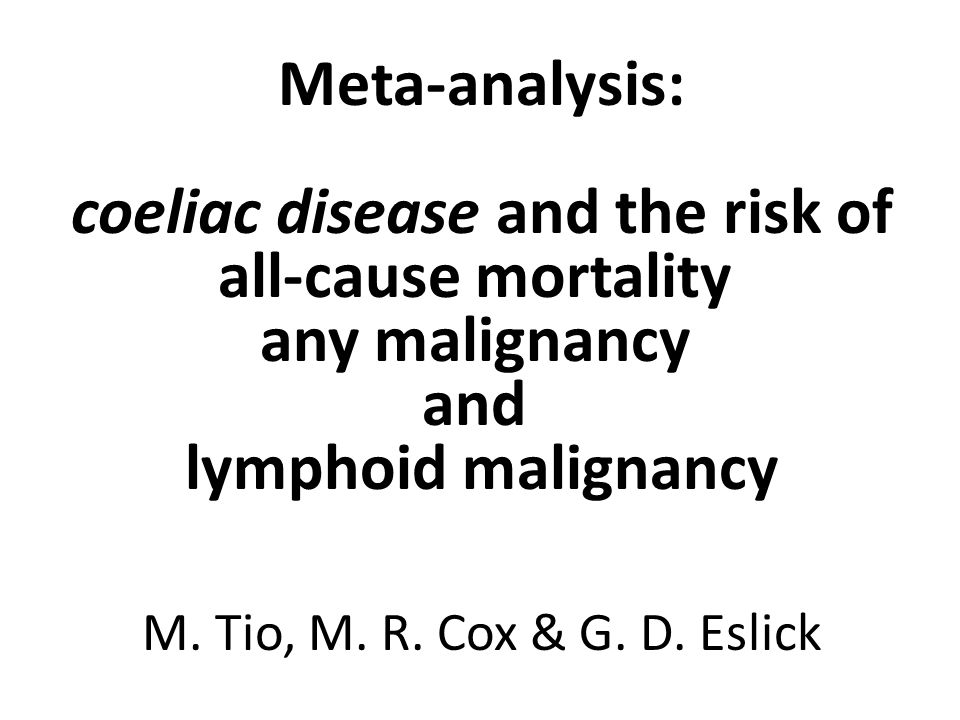 all-cause mortality any malignancy and