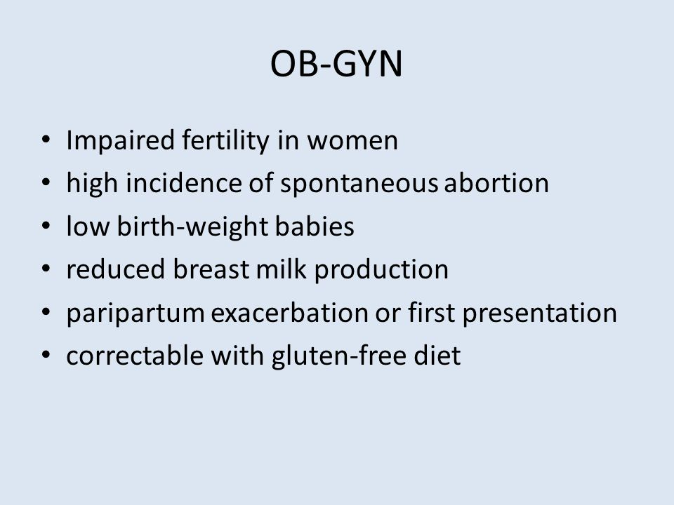 OB-GYN Impaired fertility in women