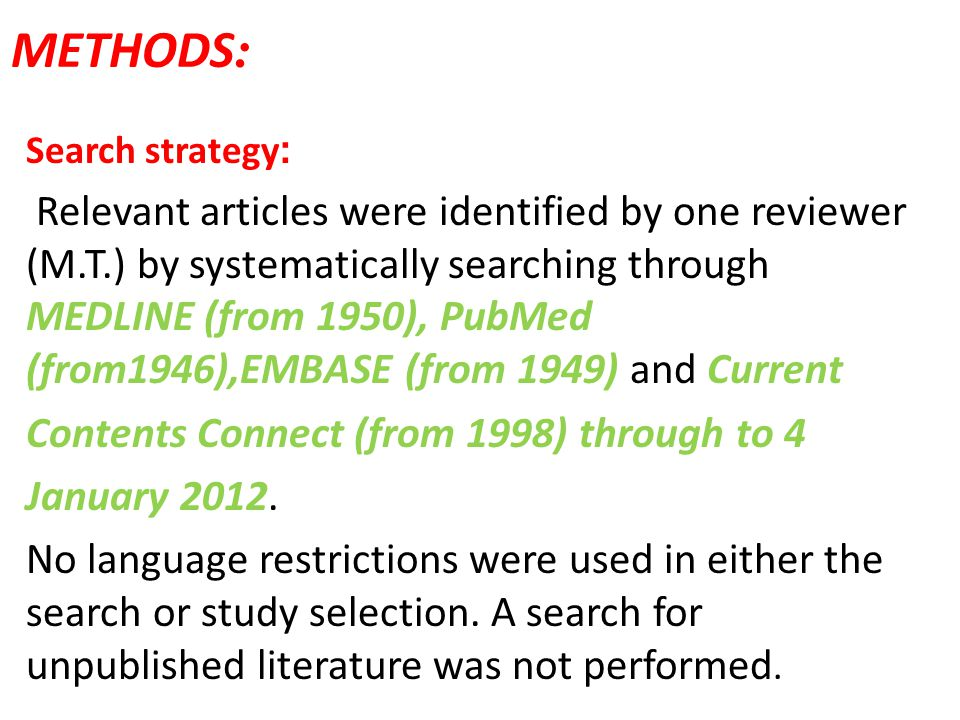 :METHODS :Search strategy.