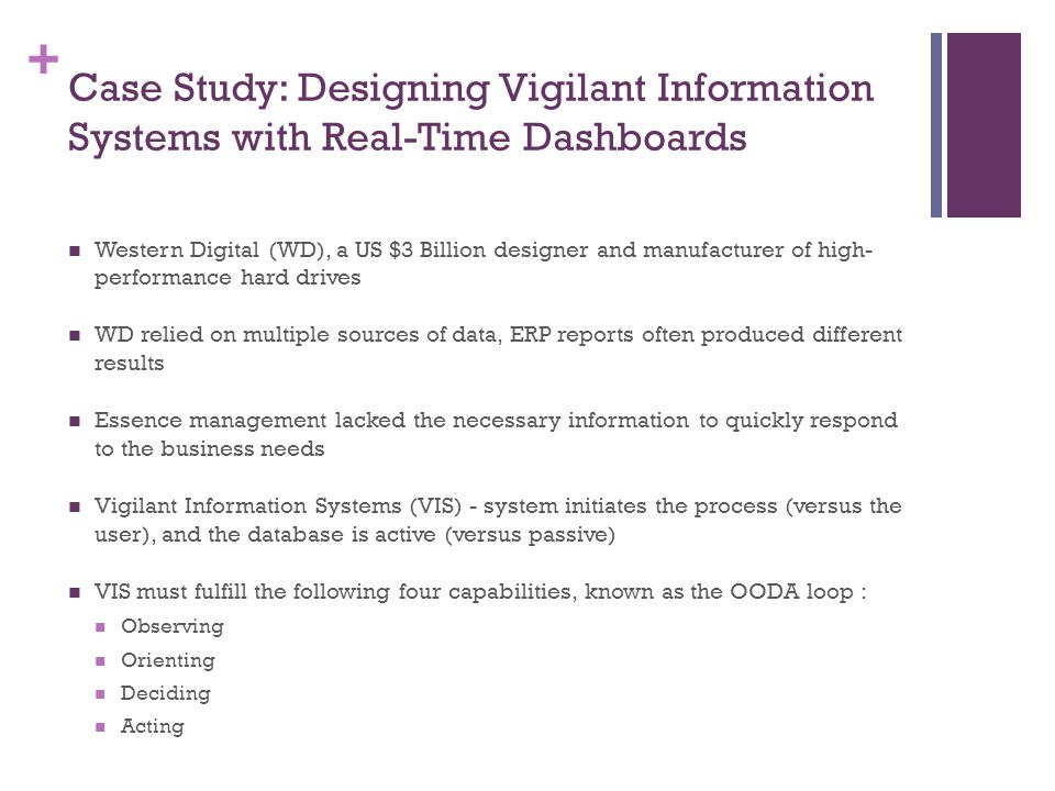 Case Study: Designing Vigilant Information Systems with Real-Time Dashboards