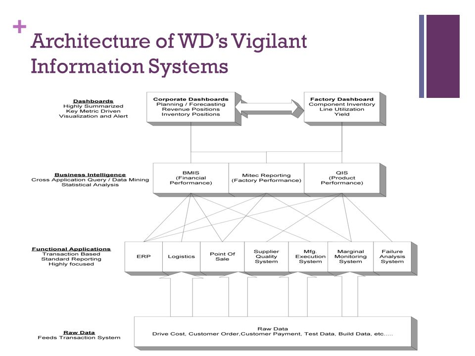 Architecture of WD's Vigilant Information Systems