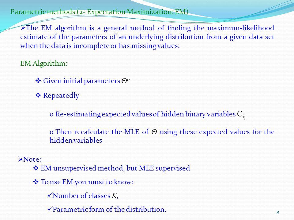 Parametric methods (2- Expectation Maximization: EM)