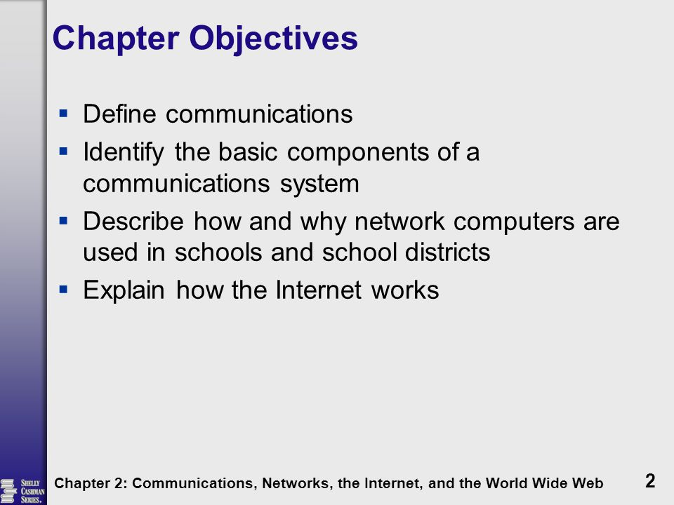 Chapter Objectives Define communications