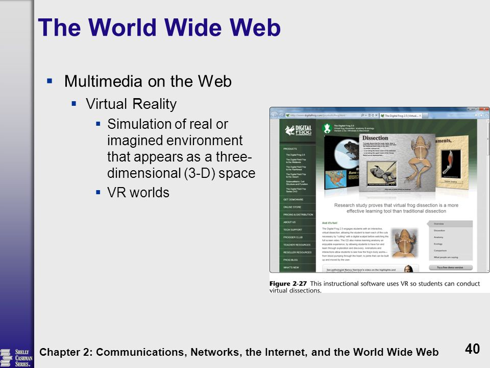 The World Wide Web Multimedia on the Web Virtual Reality