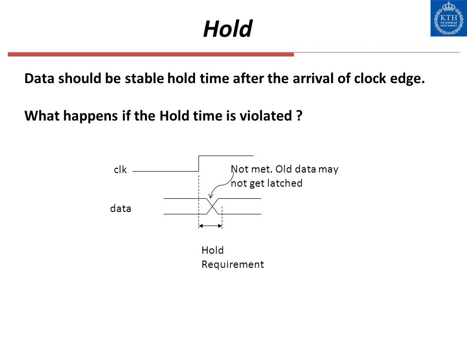 Hold Data should be stable hold time after the arrival of clock edge.