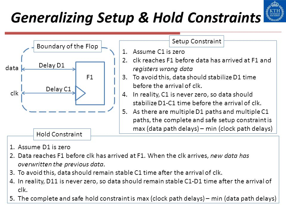 Generalizing Setup & Hold Constraints