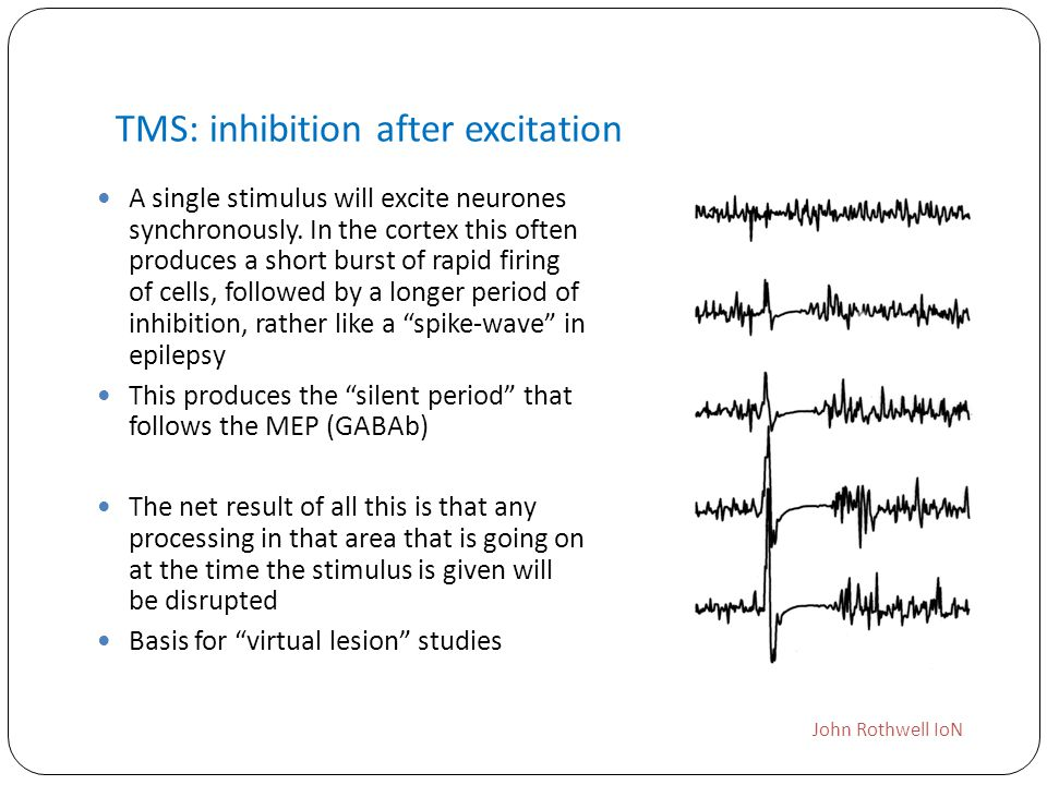 TMS: inhibition after excitation